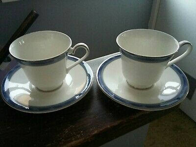 X2 Royal Doulton ATLANTA Pattern TEA CUPS & SAUCERS. In Great Unused Condition  • 11.95£