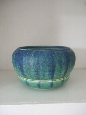 Bretby Vintage Blue & Green Mottled Bowl With Beading Rare Circa 1910 Art Deco  • 110£
