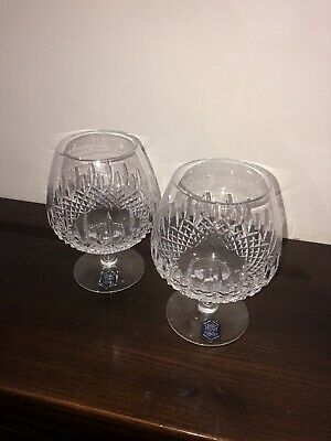 A Pair Of Stuart Crystal Brandy Glasses (with Label On) • 8.75£