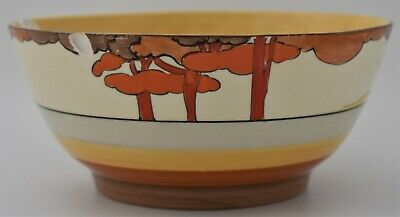 Fabulous Clarice Cliff Bizarre Coral Firs Bowl - 1930's - Art Deco - Damaged • 129£