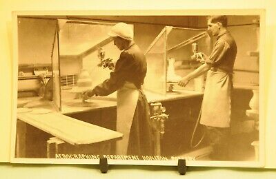 Honiton Pottery Postcard Aerographing Department In Very Good Condition • 5£
