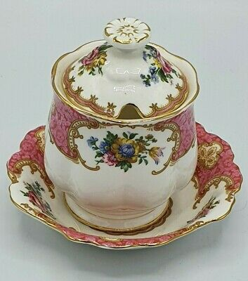 Vintage Royal Albert Lady Carlyle Preserve Pot With Saucer. • 31£