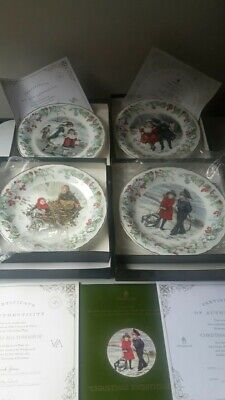 The Victoria And Albert Museum Christmas Plate Set X4  • 25£