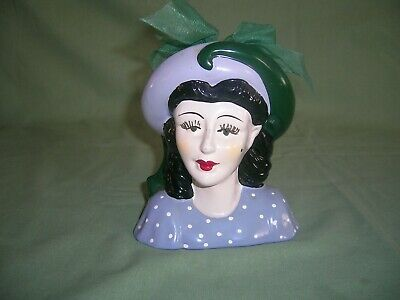 MINITURE CERAMIC HEAD OF 1930s LADY • 7.50£
