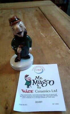Wade Limited Edition Mr Magoo Figurine - Good Condition With Certificate Xxx • 25£
