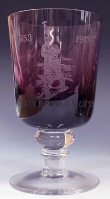 Vintage Limited Edition Wedgwood Glass Goblet,Mountaineering Conquest Of Everest • 19.99£