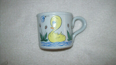 Very Rare Buchan Pottery Scotland Stoneware Child's Mug Duck Butterfly Bargain • 19.99£