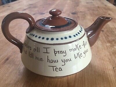 Vintage Torquay Motto Ware Tea Pot - Ladies All I Pray... • 12£