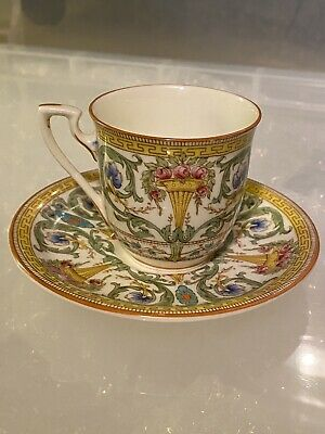 Vintage Royal Worcester Cup And Saucer  With Floral Pattern 698/2 • 14.99£