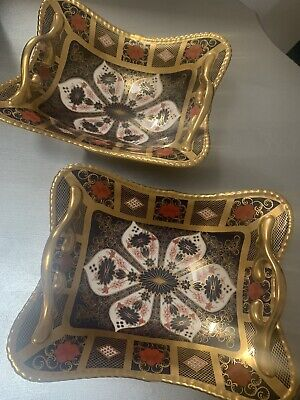 2 X Royal Crown Derby 2nd Quality Old Imari Gold Band • 2,500£