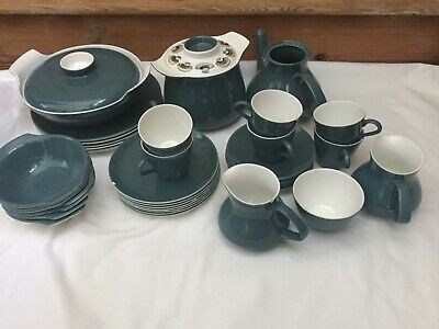 Poole Pottery Dinner And Tea Set In Blue Moon • 28£