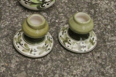 Jersey Pottery Candlesticks  Matching Pair • 6£