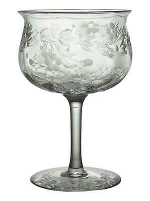 Thomas WEBB Crystal - Floral Intaglio - Champagne Saucer Glass / Glasses- 4 3/4  • 39.99£