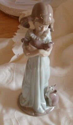 Genuine Lladro Spain   Dont Forget Me   Model 5473 Girl With Cats • 20£