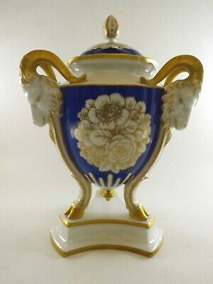Stunning Rosenthal Vase & Cover With Three Goat Heads Emblems Ref 196/7 • 18£
