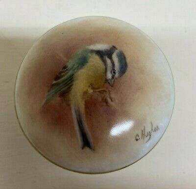 Christopher Hughes Hand Painted Dish Blue Tit (Royal Worcester Artist) • 120£