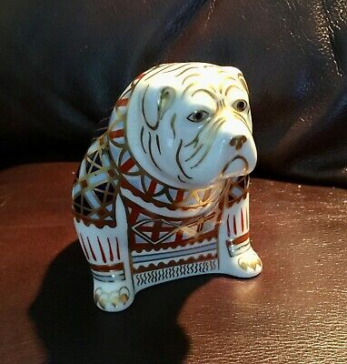 Royal Crown Derby Bulldog Paperweight With Silver Stopper • 10.50£