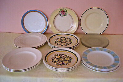 Vintage Collection Of Mixed & Varied Dinner Plates X 22 - Includes Ironstone • 10£