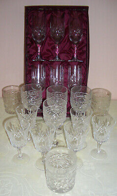 Vintage Lead Crystal Glasses - Mixed Job Lot Of X 18 • 10£