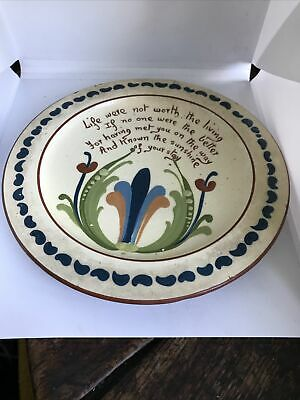 19c Early Aller Vale Devon Long Motto Ware Plate Special Commission? • 27.50£