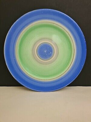 SHELLEY - HARMONY Blue & Green Banded Plate • 20£