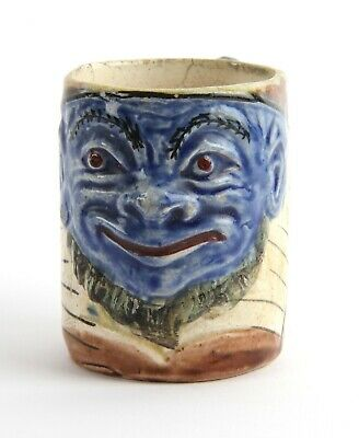 Blanche Vulliamy Oom Paul Kruger Grotesque Brannam Style Political Mug S. Africa • 350£