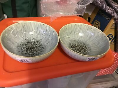 Denby Halo Speckle Soup / Cereal Bowls X 2. {New And Unused}  • 23.99£