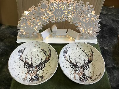 Royal Stafford Arthur The Stag Pasta Soup Bowls X 2 New • 19.99£