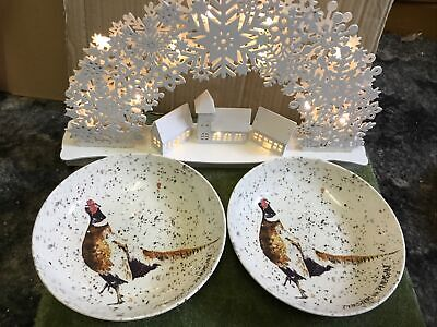 Royal Stafford Chester The Pheasant Pasta Soup Bowls X 2 New • 19.99£