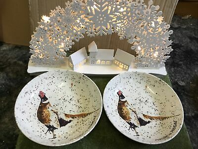 Royal Stafford Chester The Pheasant Pasta Soup Bowls X 2 New • 19.95£