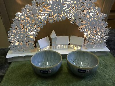 Denby Halo Speckled Small Dip  Bowls X 2 New With Labels • 19.99£