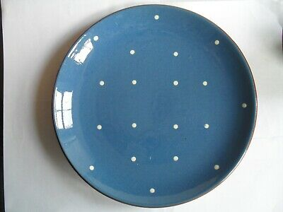 Dartmouth Pottery Domino Pattern Blue With White Spots,9 1/2  Diameter • 5.99£