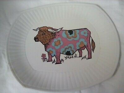 Set Of 6 English Ironstone Pottery Beefeater Plates - Steak And Grill Set  • 31£