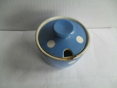 T.G.Green Blue Domino Mustard Pot 2 1/2  High And 2 1/2  Wide • 2.99£