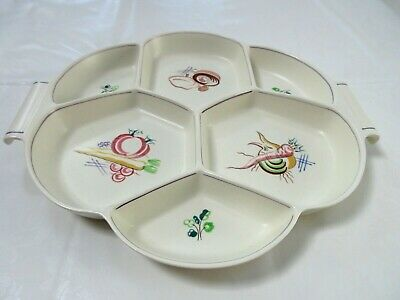Beautiful Poole Pottery Multi Section Canapes / Serving Dish  • 4.99£