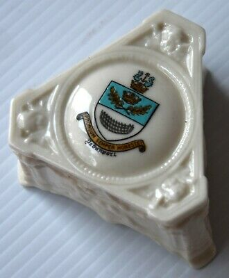 Crested China: Devonport (devon) Grafton Pill Box With Embossed Angels & Lovers? • 4.99£