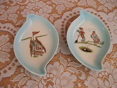 Eastgate Pottery - 2 Golf Theme Dishes • 3£