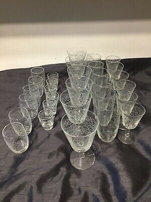 5 X Sets Of Glasses French Toile Design Tumblers Wine Sherry Shot Made In France • 19.99£