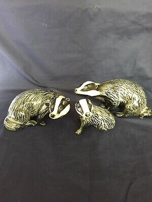 Beswick Badger Family.  Boar, Sow & Cub All In Perfect Condition.  • 65£