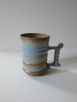 Prinknash Abbey Studio Pottery Mug Excellent Condition Blue/Brown • 10£