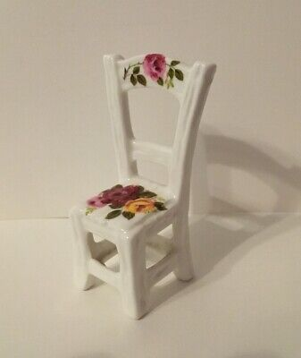Country Rose China Miniature Chair • 2.50£