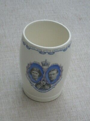 Wedgwood George VI Coronation Beaker From The City Of Portsmouth • 9.99£