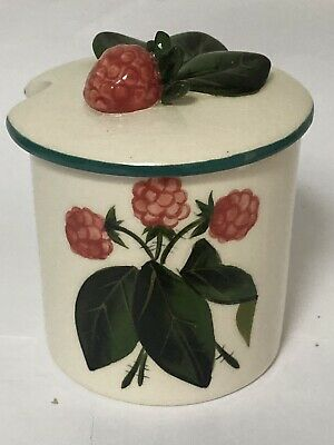 WEMYSS Griselda Hill Pottery Preserve  Pot Raspberry's Great Condition • 34.99£