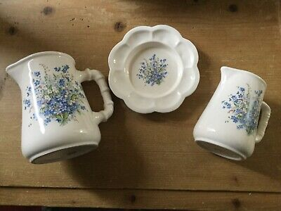 Vintage Maesteg Cottage Crafts Pottery Jugs And Stand • 29.95£