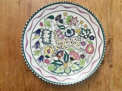 Poole Pottery Persian Deer Plate 25cm Lovely Rare Collectable Vintage Item • 18£