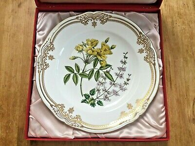 Vintage/Rare Spode Stafford Flowers Bone China 23.5cm Rosa & Salvia Plate In Box • 22£