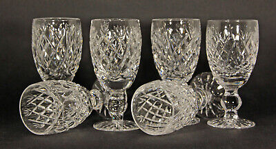 VINTAGE SET Of 6 WATERFORD CRYSTAL DONEGAL PATTERN SHERRY GLASSES • 60£