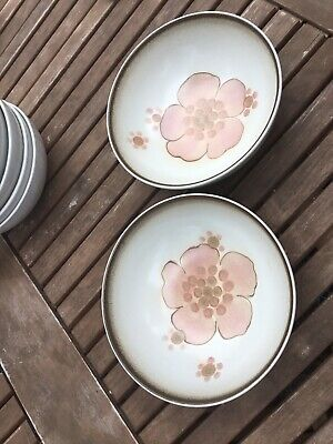 Denby Gypsy Cereal Bowls X 2 Diameter 6.5 Inches • 18.99£
