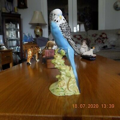 Beswick Blue Budgie. 1216 Perfect Condition. 17cm Tall • 60£