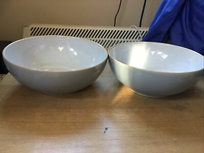 Denby Cool Blue Cereal Bowls X 2 New Seconds  • 24.99£